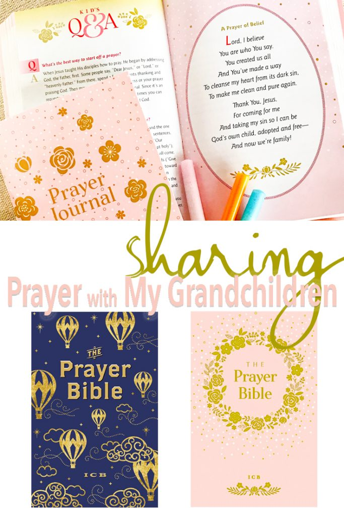 Sharing prayer with grandchildren