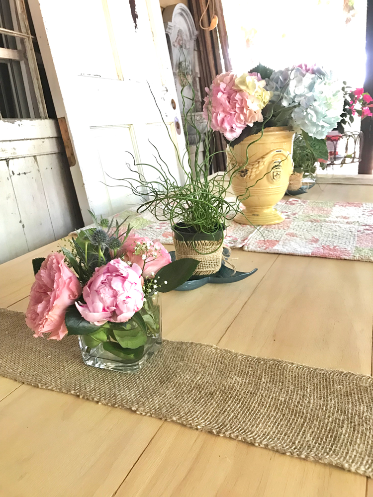 burlap table runner from roll