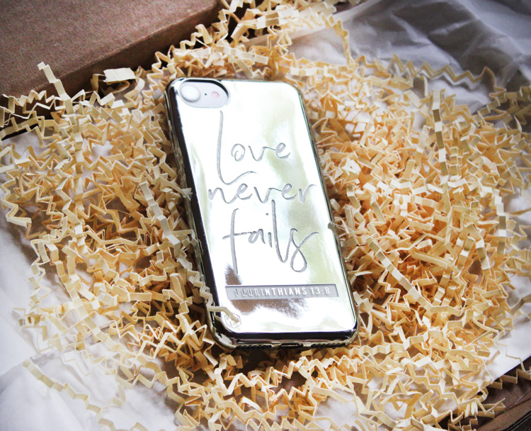 Love Never Fails phone cover
