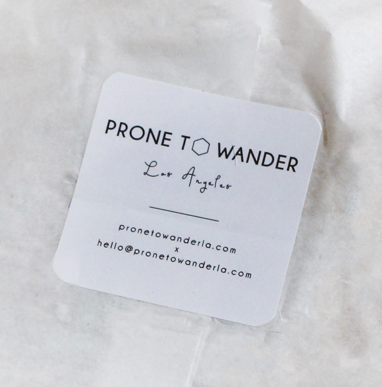 Prone to Wander Label
