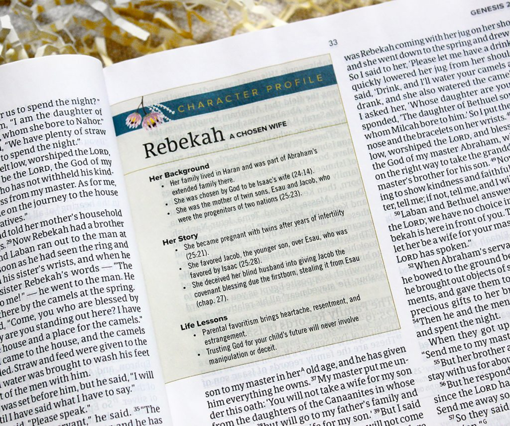 Study Bible Rebekah profile