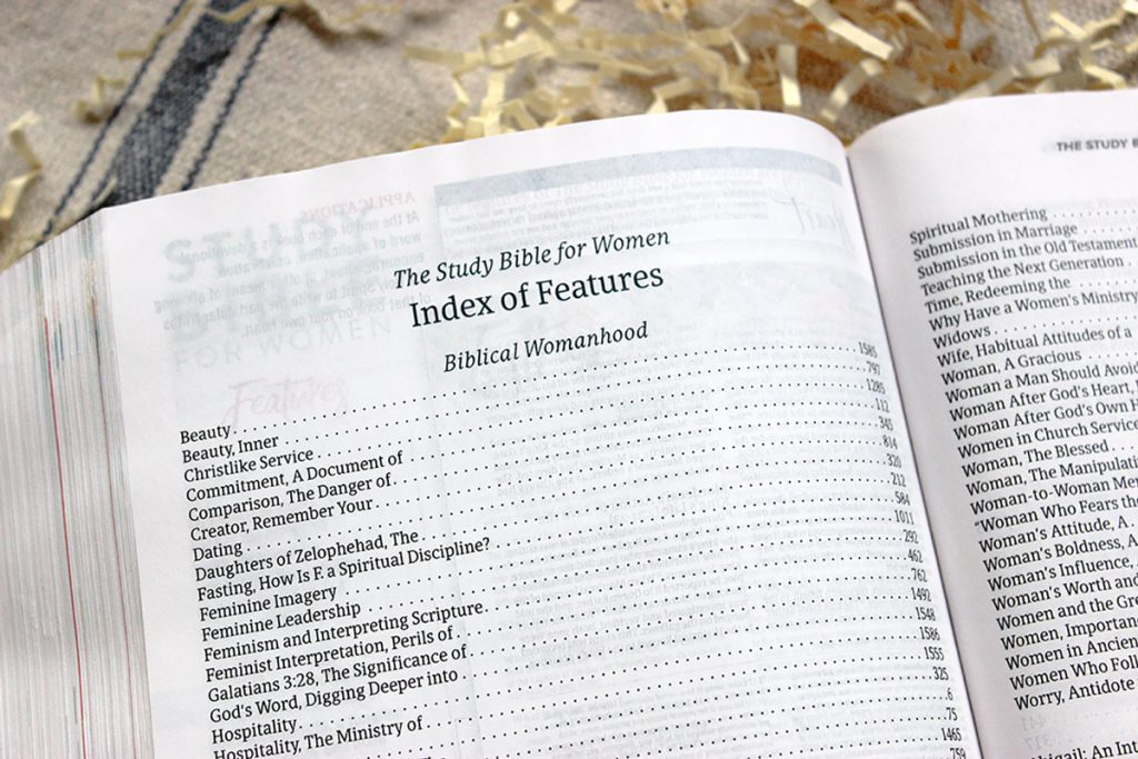 Study Bible Index