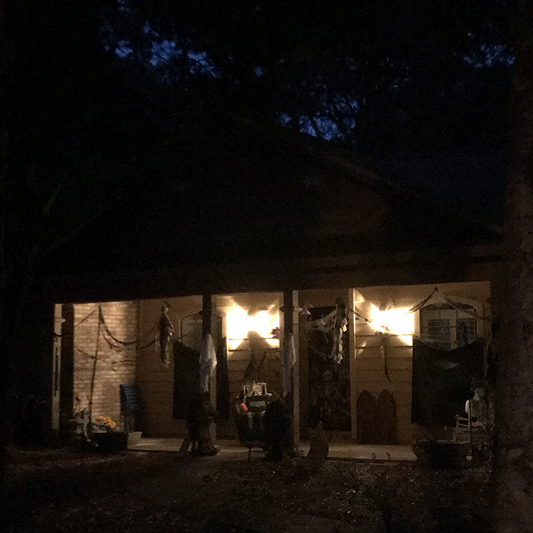 Night time Eerie Entryway Decor for Halloween