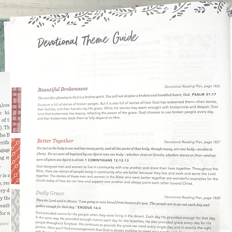 Devotional Theme Guide (in)Courage Devotional Bible