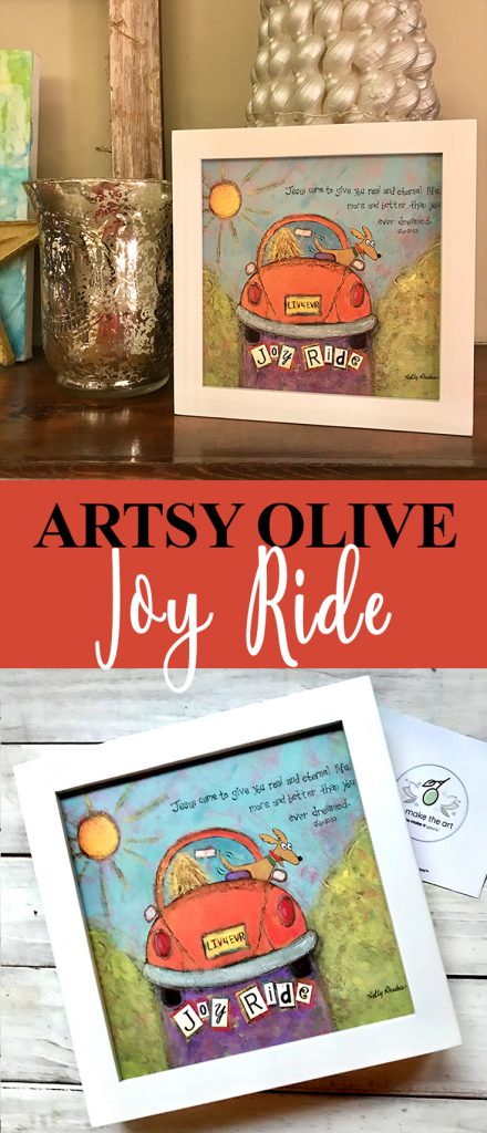 Artsy Olive Art Joy Ride Print