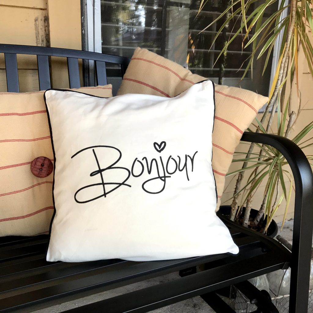 Bonjour Pillow Spring Porch Decor Refresh