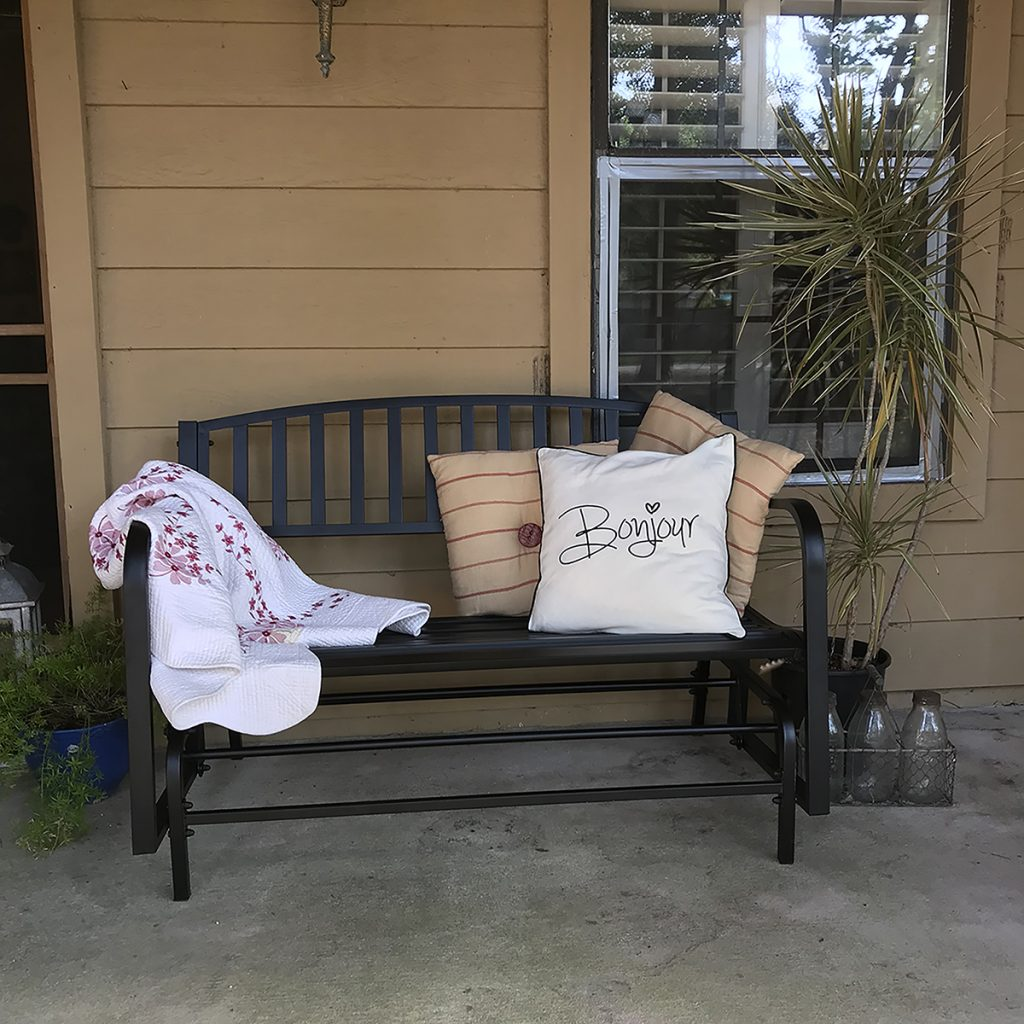 Glider Spring Porch Decor Refresh