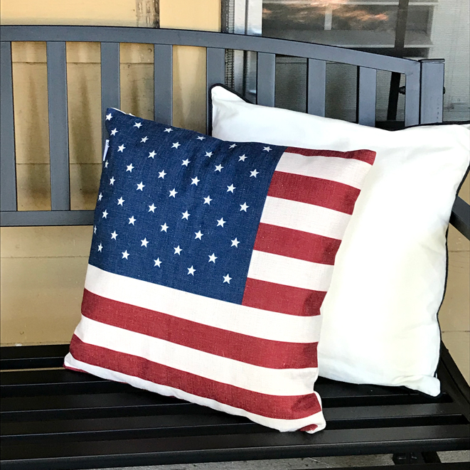 July Porch Flag Pillow