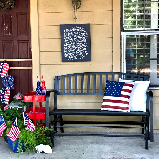 July Porch Decor front