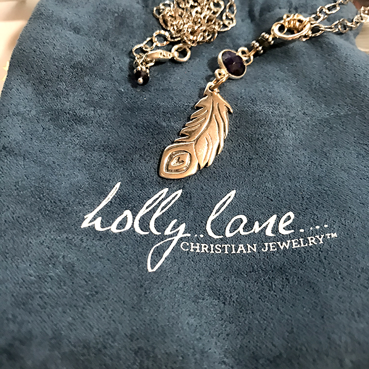 Silver Feather 'Wonderfully Made' Necklace