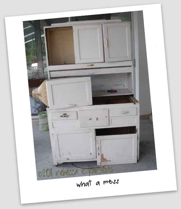 Th E Typical Hoosier Cabinet Consists Of Three Parts. The Base Section  Usually Has One Large Compartment With A Slide Out Shelf, And Several  Drawers To One ...